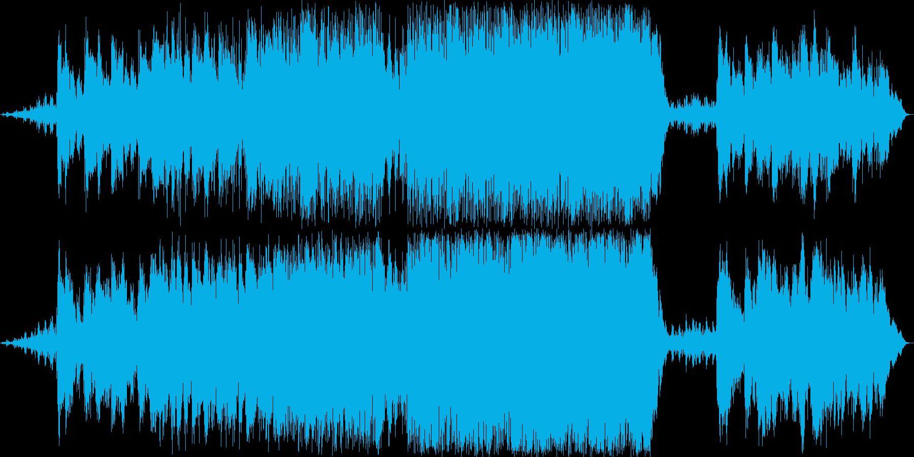 アメリカ西部の砂漠を彷彿させるロック音楽の再生済みの波形