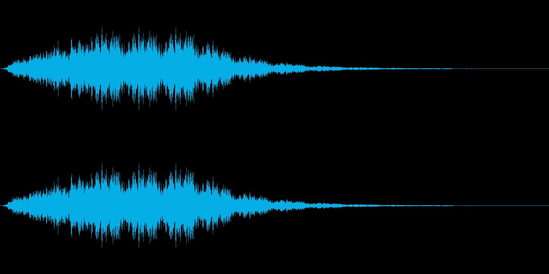 巨大な羽が回る音の再生済みの波形