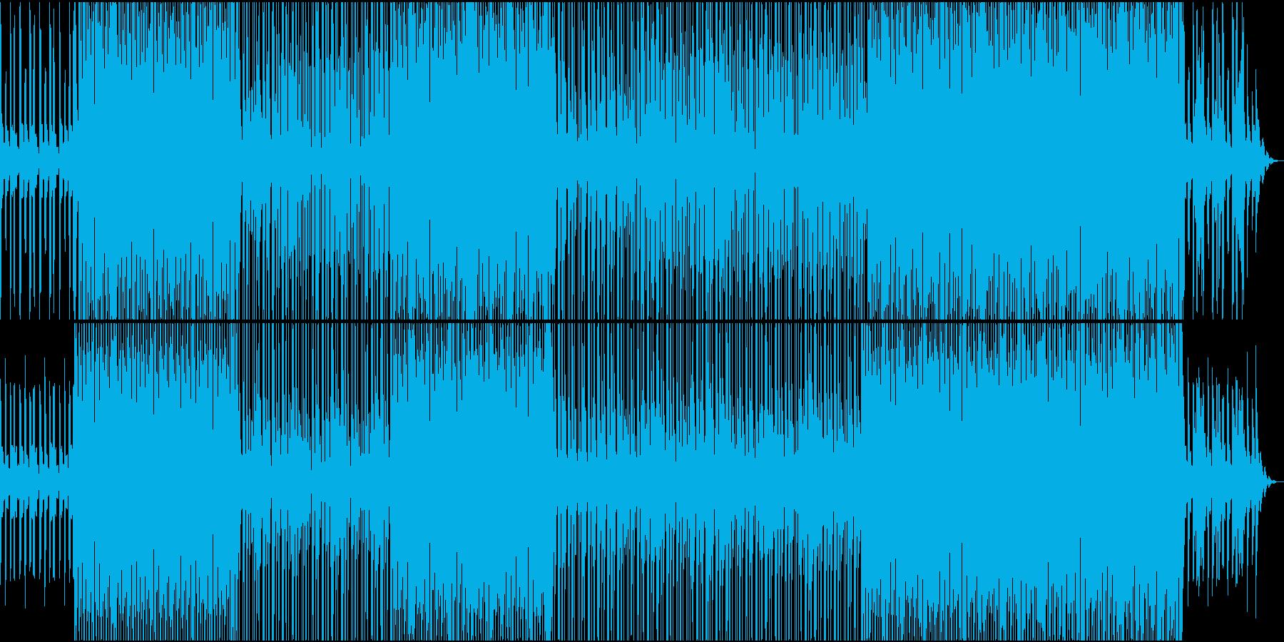 デジタルなシンセウェーブの再生済みの波形