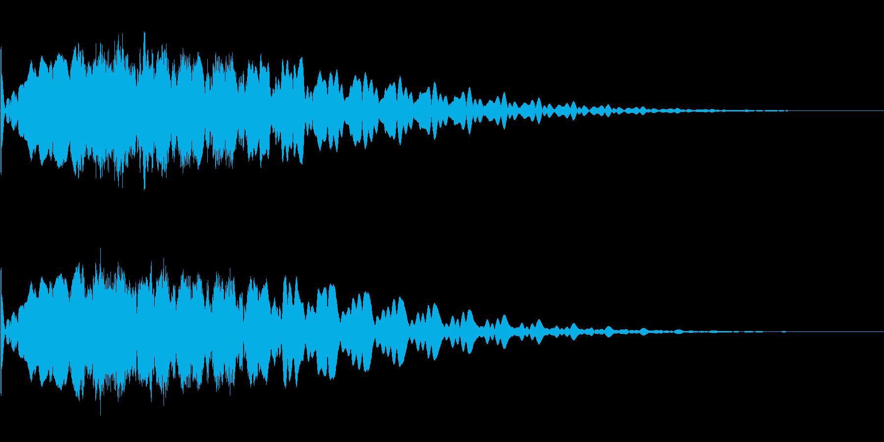 キュイーン、キーン、チュイーン、キラーンの再生済みの波形