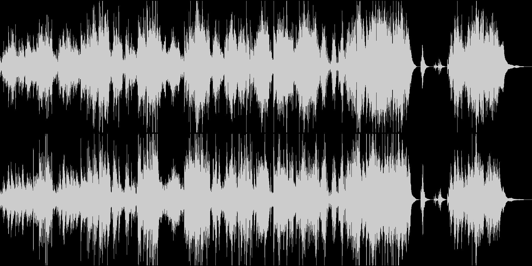 情緒的で冠婚葬祭にふさわしいピアノ曲の未再生の波形