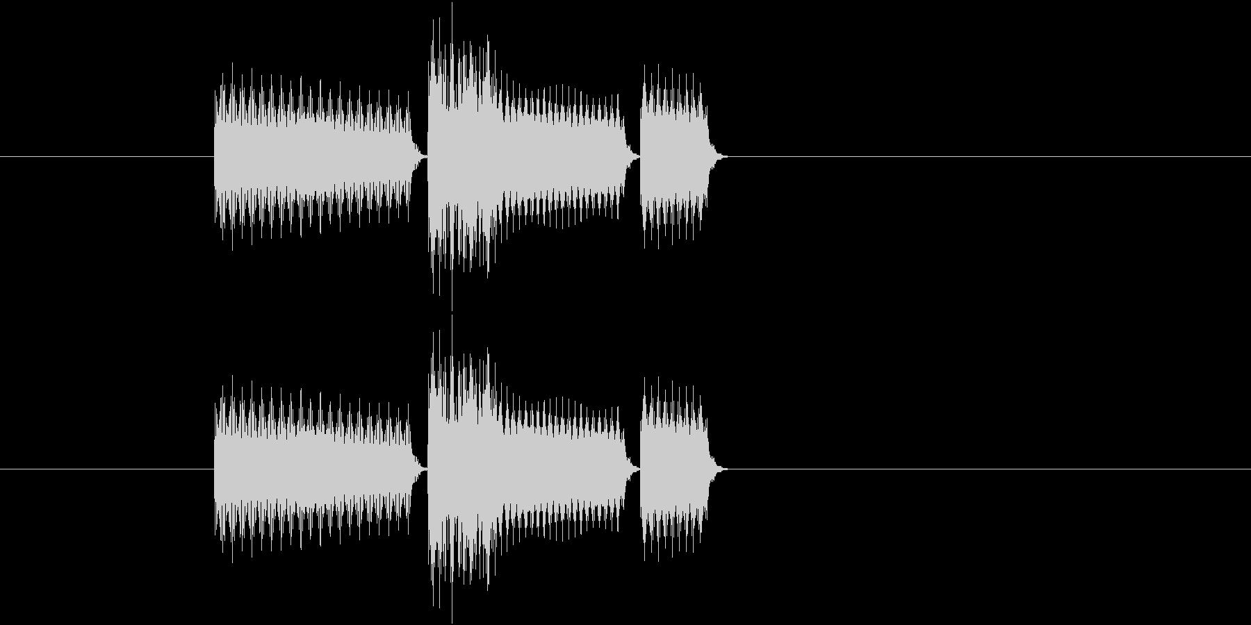 ゲーム(セレクト、決定など)の音の未再生の波形