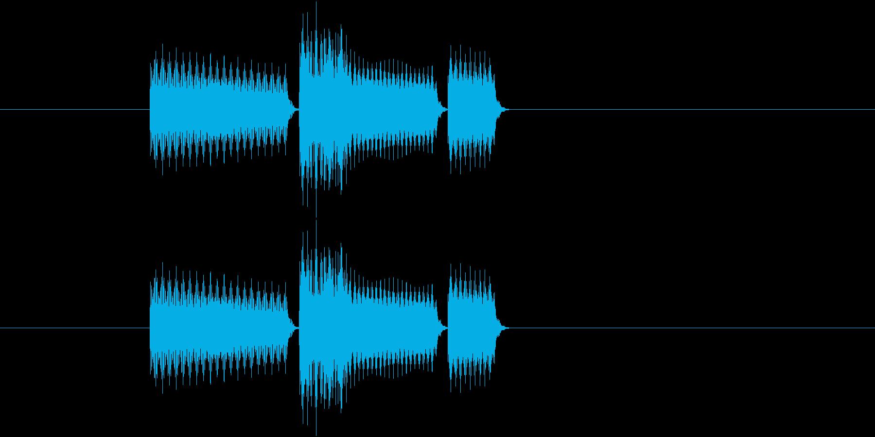 ゲーム(セレクト、決定など)の音の再生済みの波形