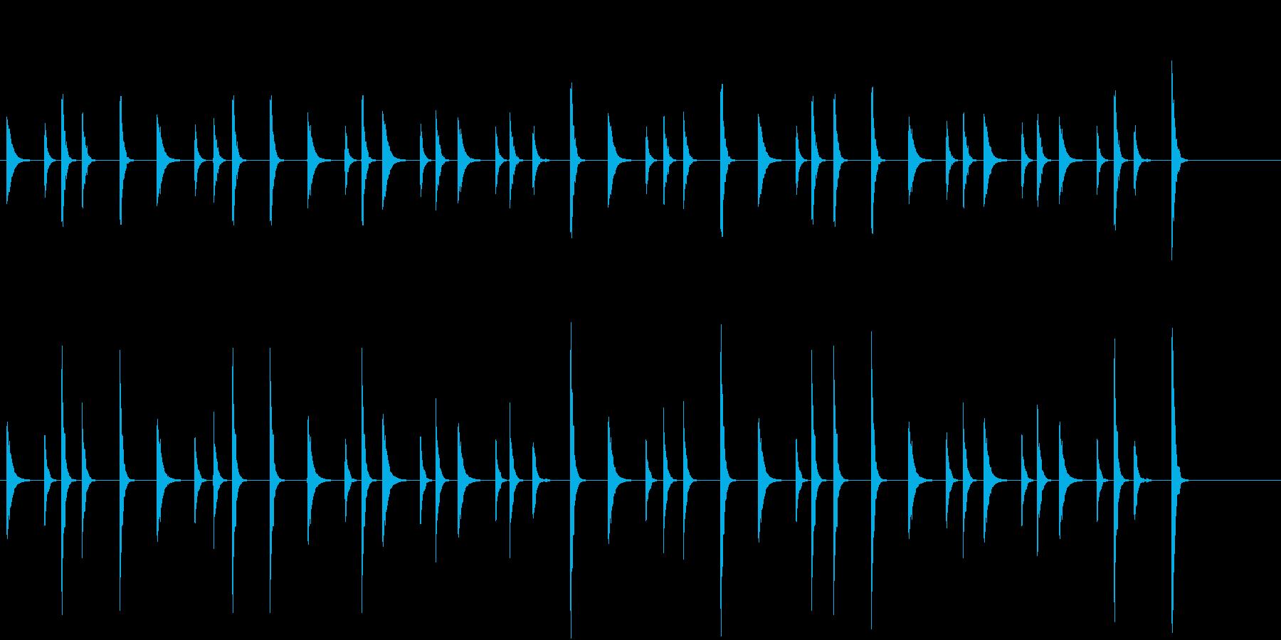 お囃子祭りの軽快なコンチキのフレーズ音の再生済みの波形