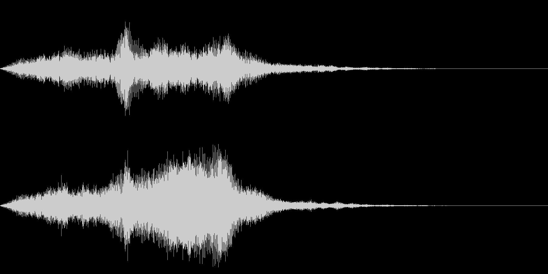 ワープ、時空系のエフェクトの未再生の波形