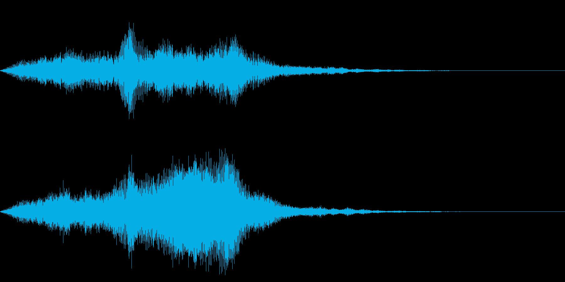ワープ、時空系のエフェクトの再生済みの波形