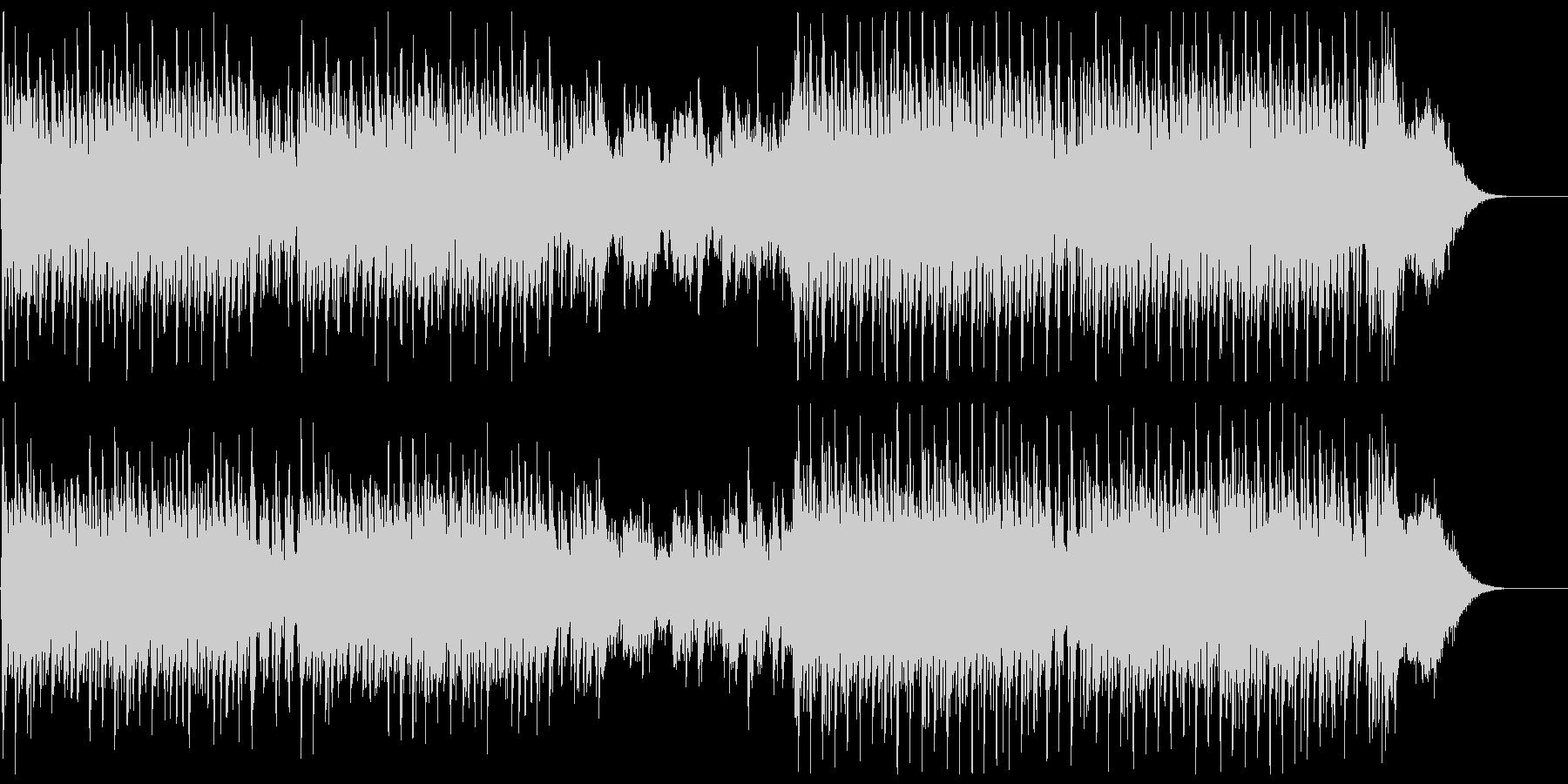 気高さと疾走感を描く合唱曲の未再生の波形