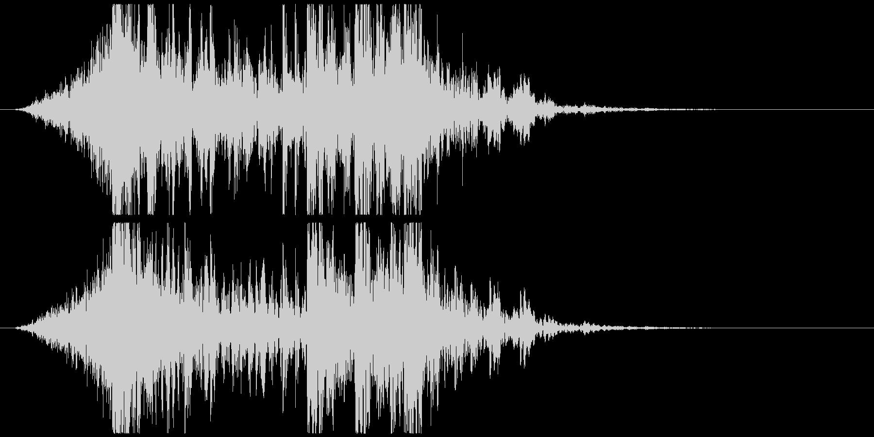 壮大で激しいリズムのサウンドロゴC(短)の未再生の波形