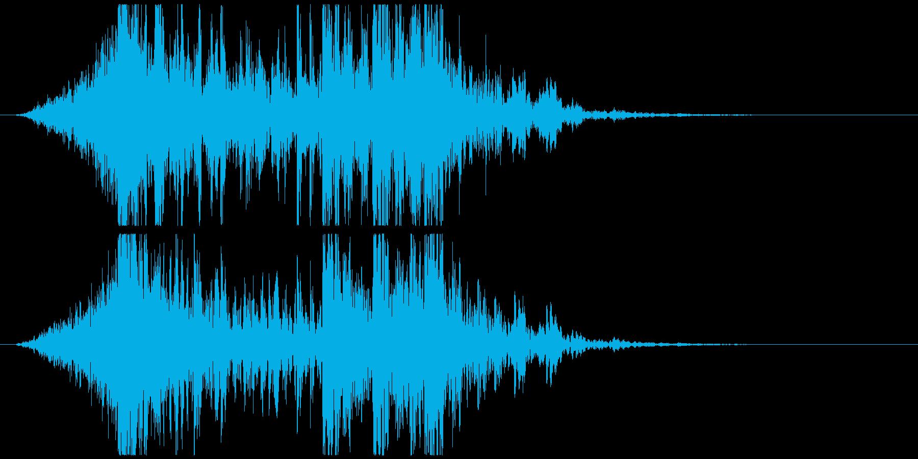壮大で激しいリズムのサウンドロゴC(短)の再生済みの波形