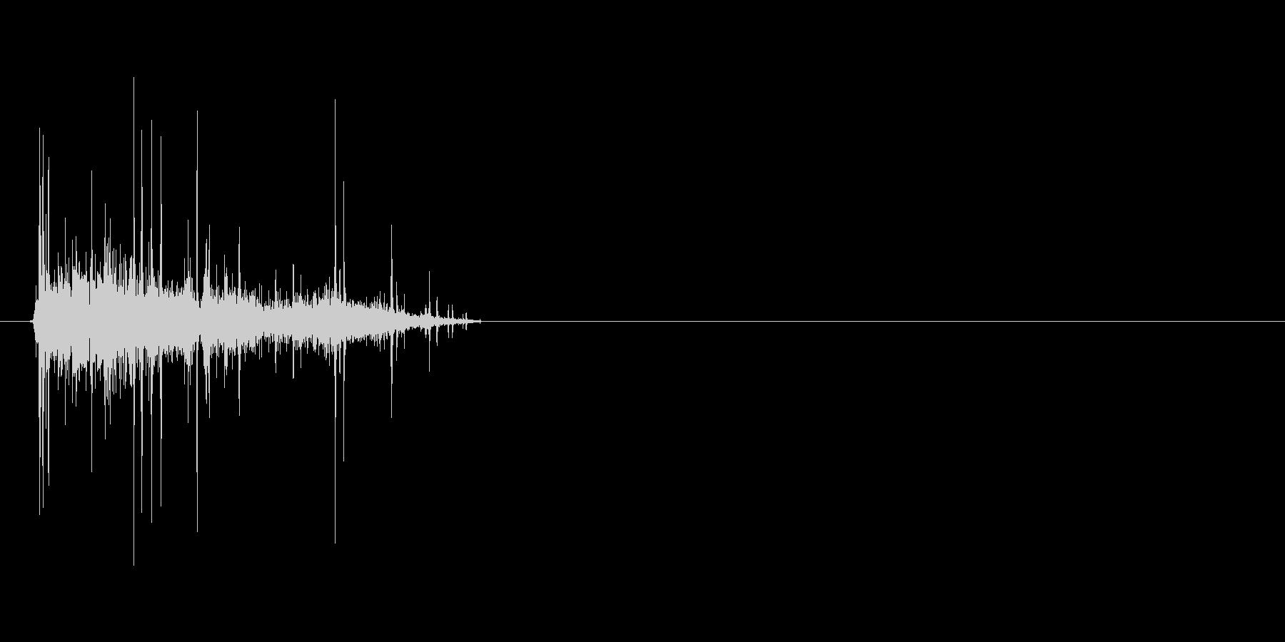 クシャッと紙を丸める音(ゴミ箱、消去)の未再生の波形