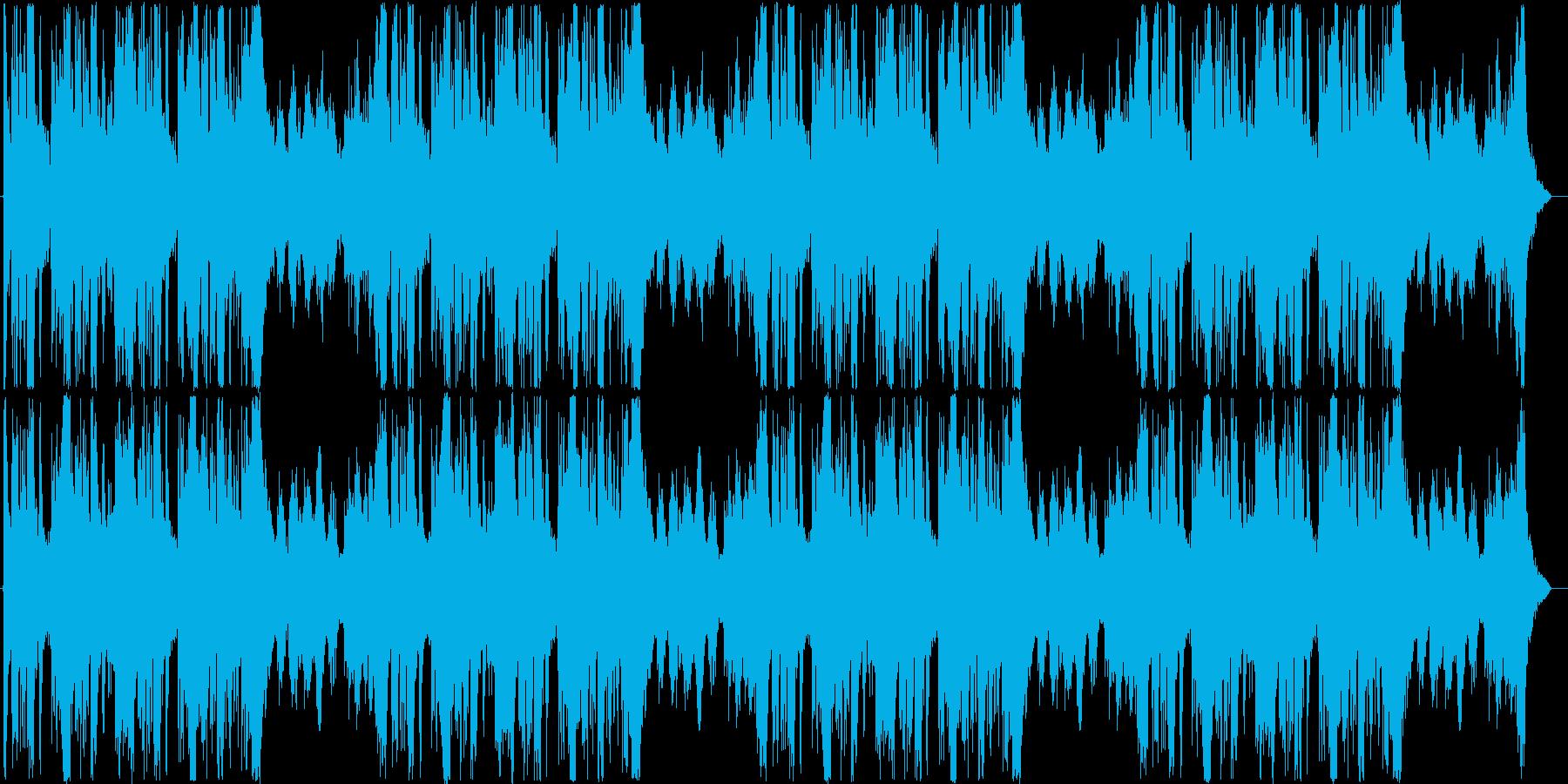 緊迫した雰囲気のオーケストラ曲の再生済みの波形