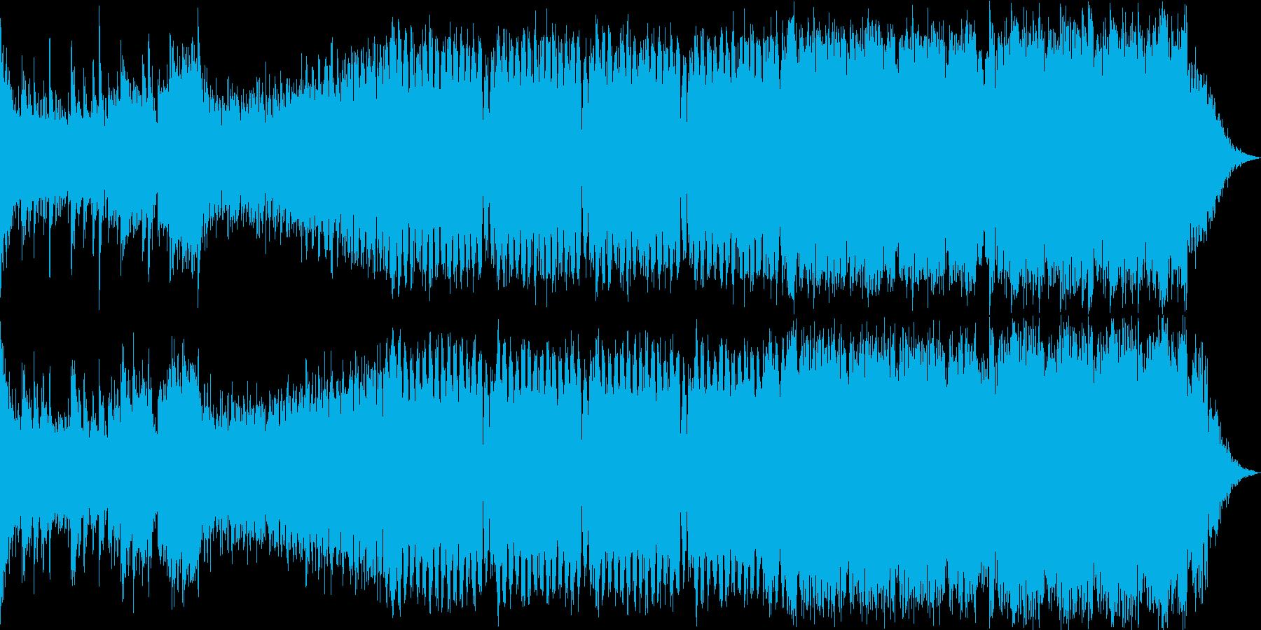 壮大でパワフルなピアノEDMの再生済みの波形