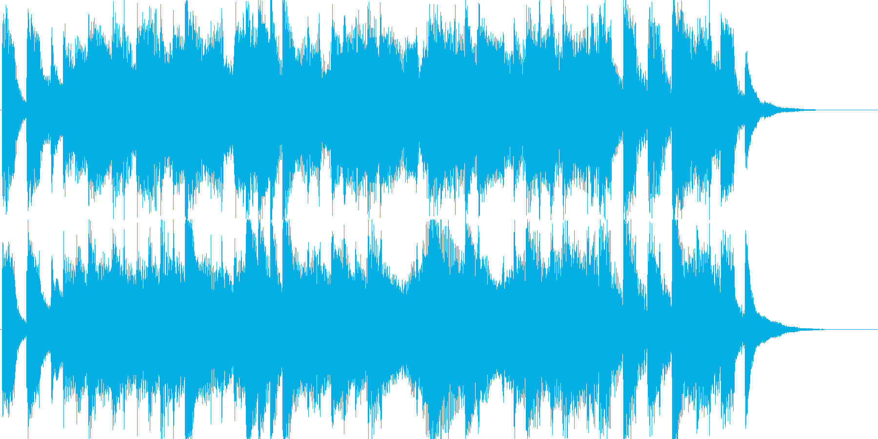 OP、ピアノ、出囃子の再生済みの波形