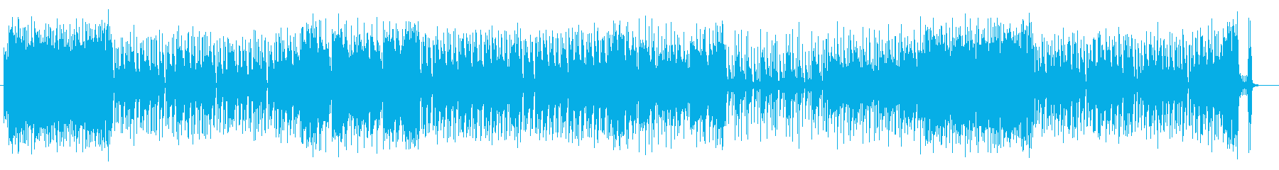 明るくて軽いノリのギター曲の再生済みの波形