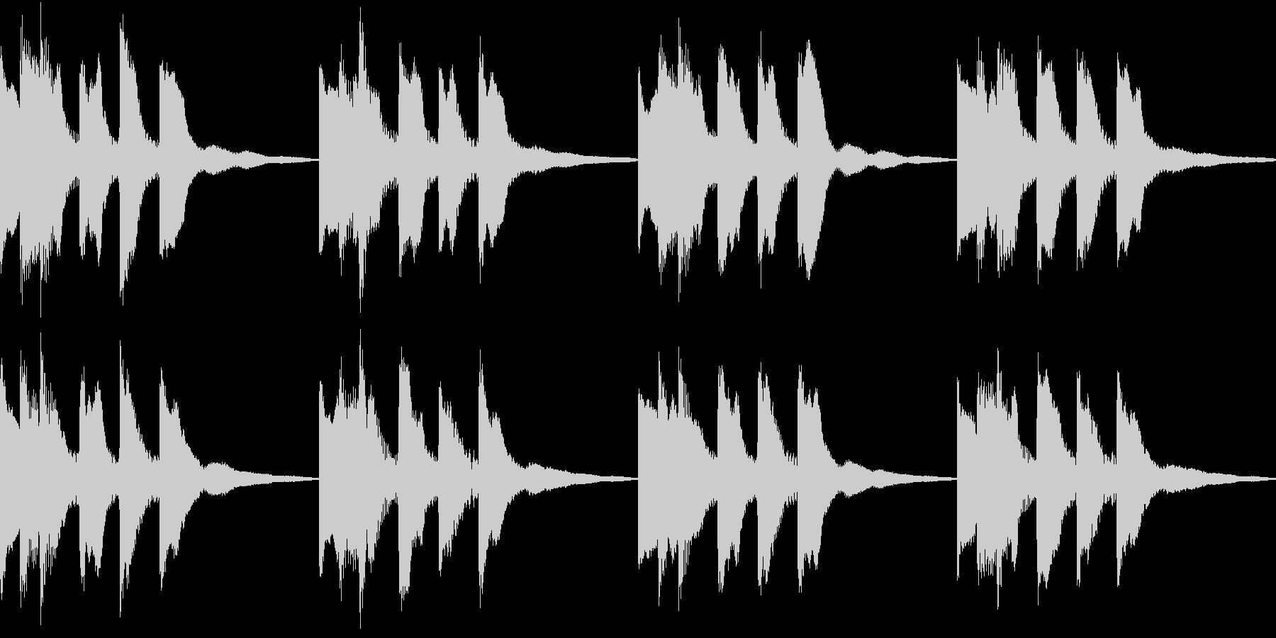 シンプル ベル 着信音 チャイム B-2の未再生の波形