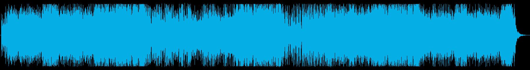 軽快なシンセ、インストの再生済みの波形