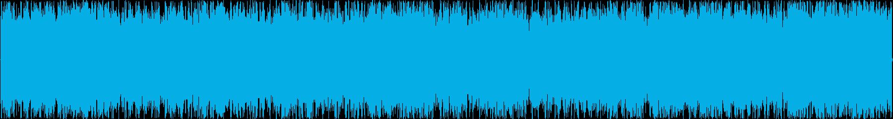 疾走感のあるオーケストラループBGMの再生済みの波形