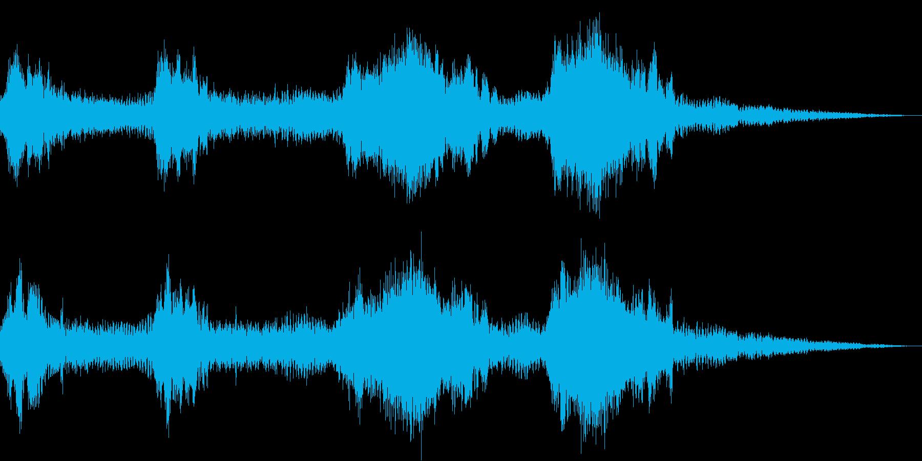 バイク オートバイの迫力あるアクセル音5の再生済みの波形