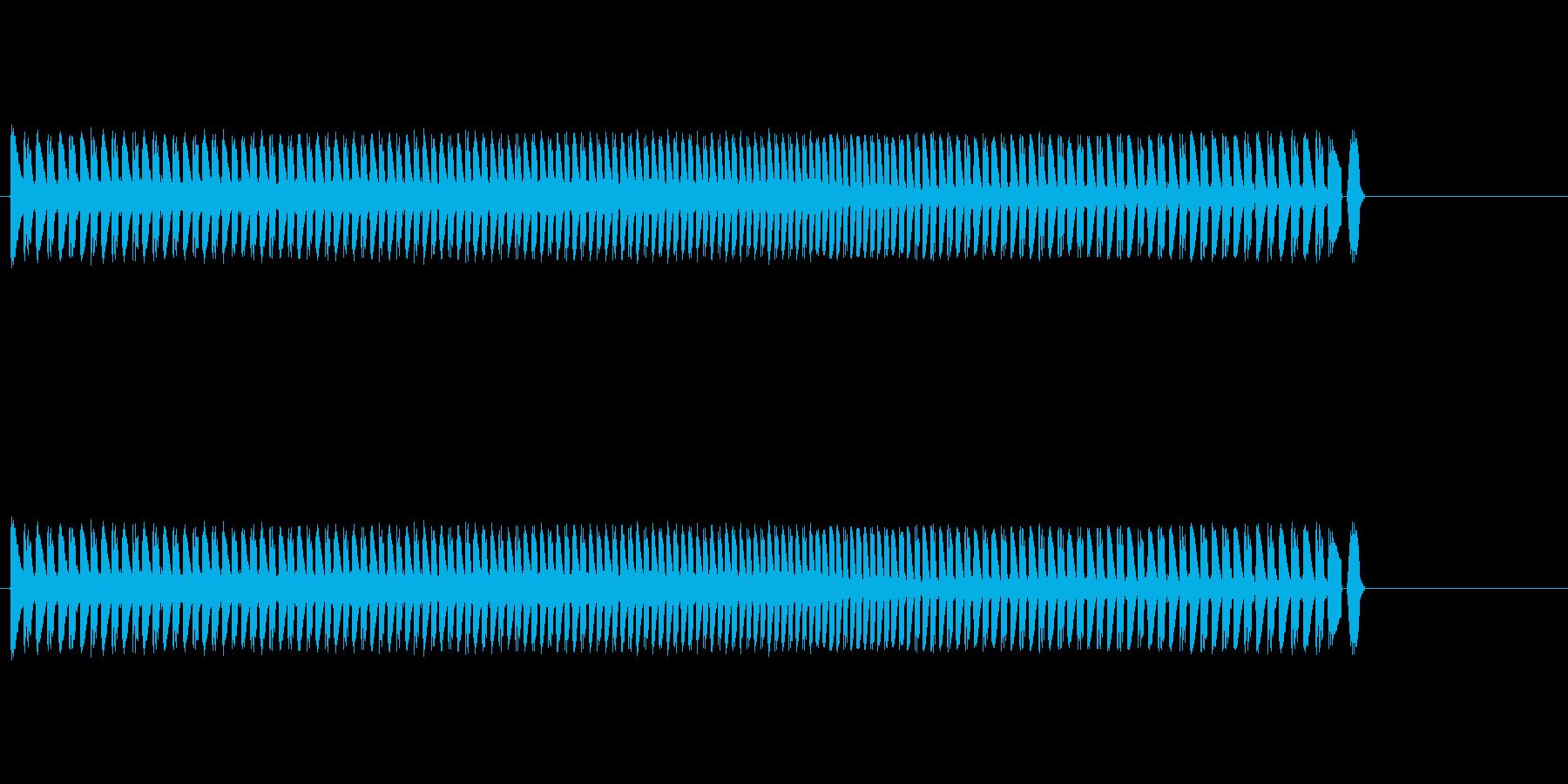 派手なゲーム系シンセ音の再生済みの波形