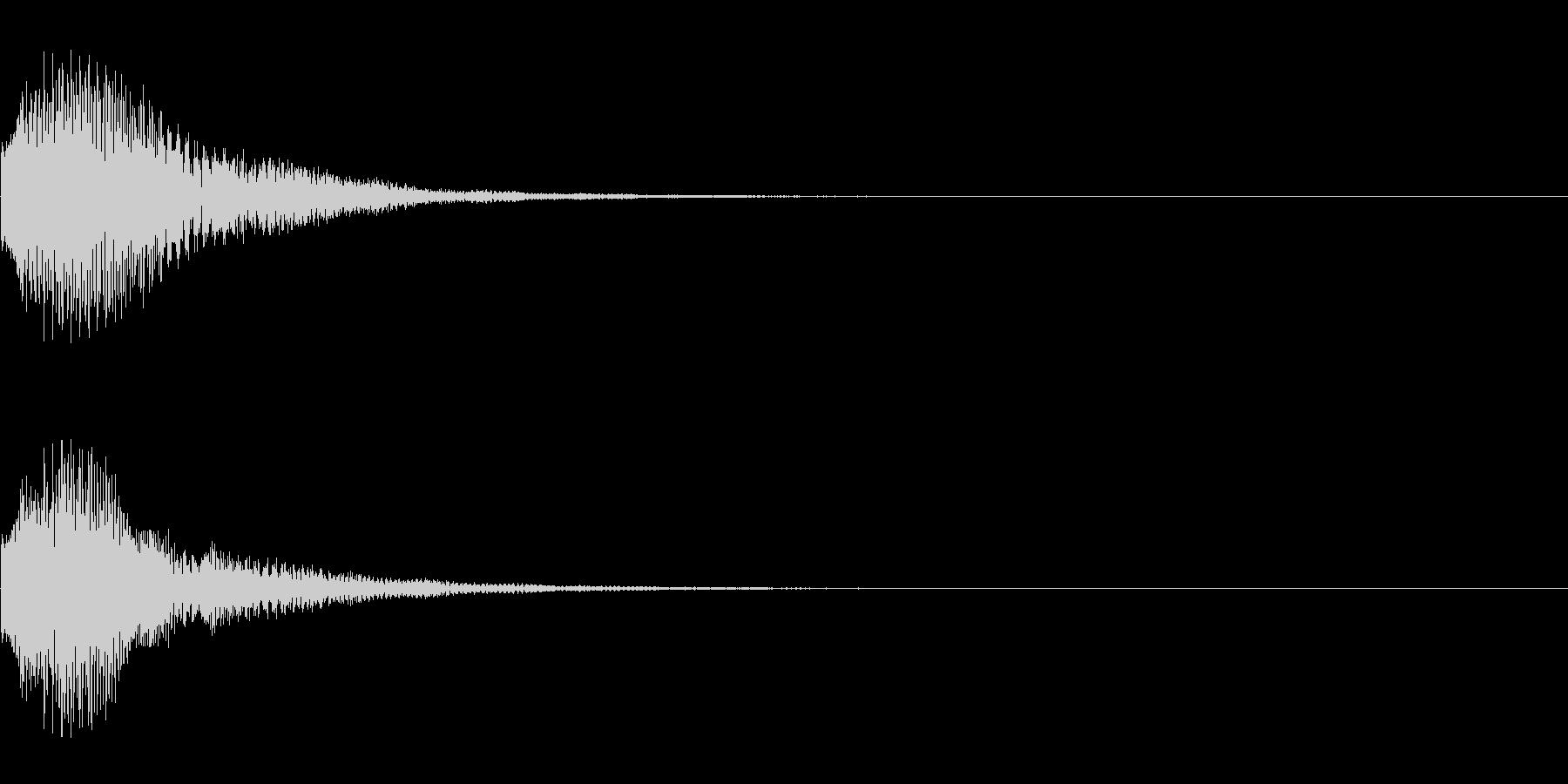 カララン(シーンの転換、ページめくり用)の未再生の波形
