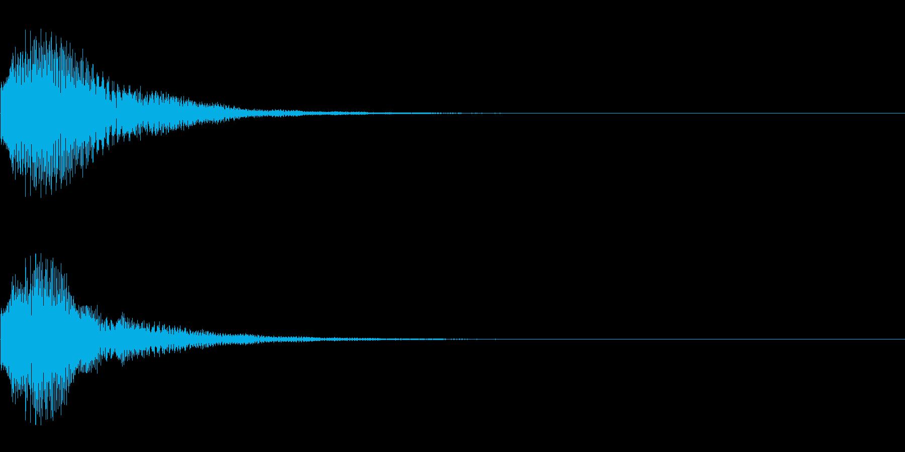 カララン(シーンの転換、ページめくり用)の再生済みの波形