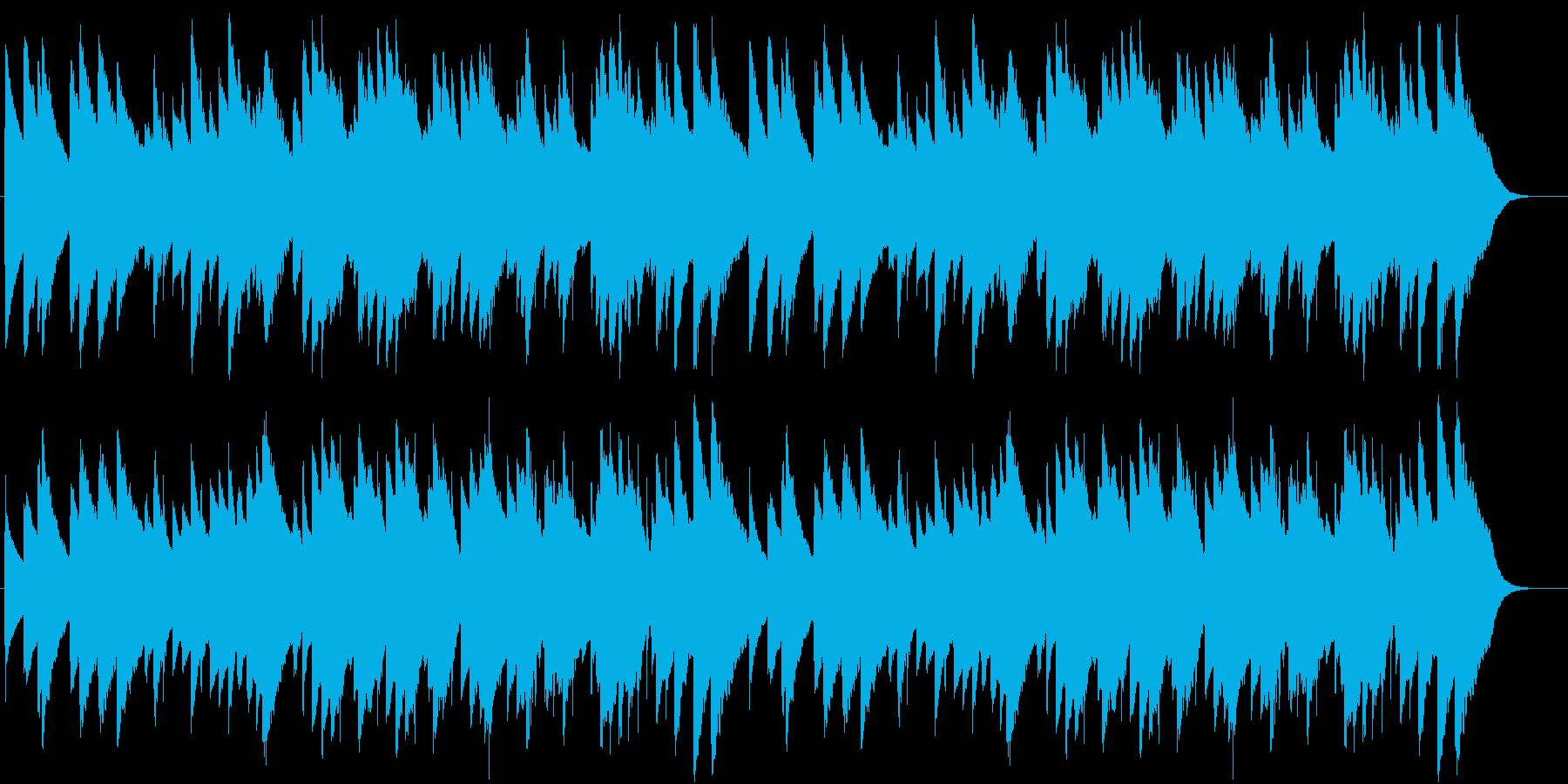 「もろびとこぞりて」オルゴール1の再生済みの波形