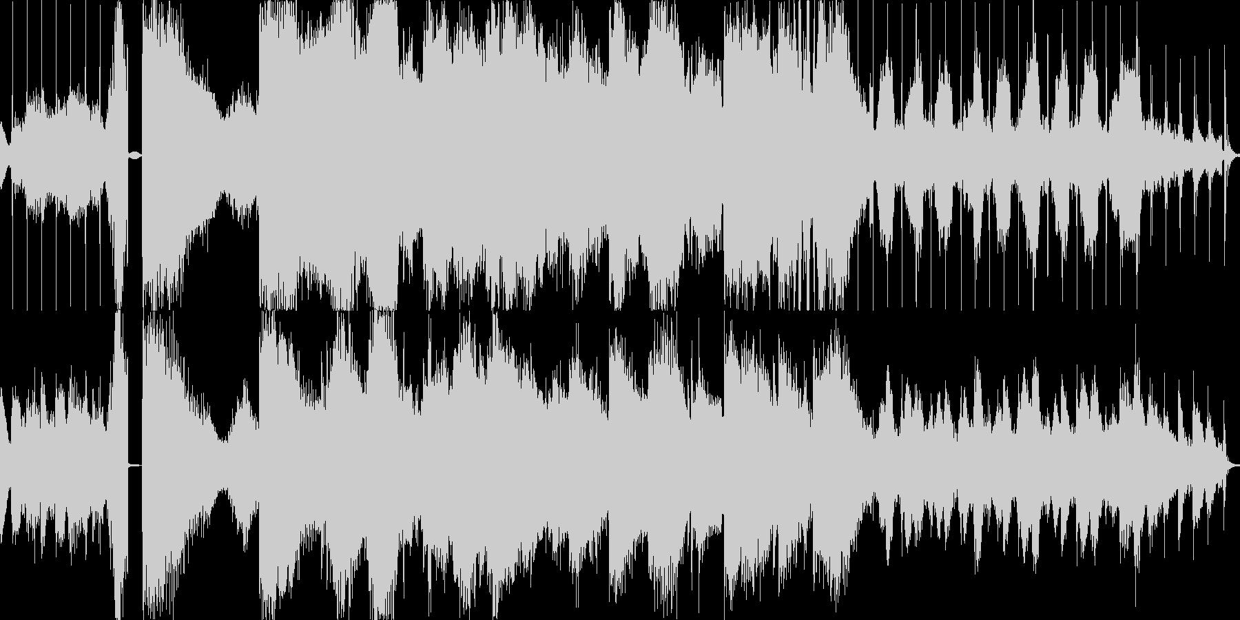 幽霊屋敷-不穏な空気の環境音楽の未再生の波形