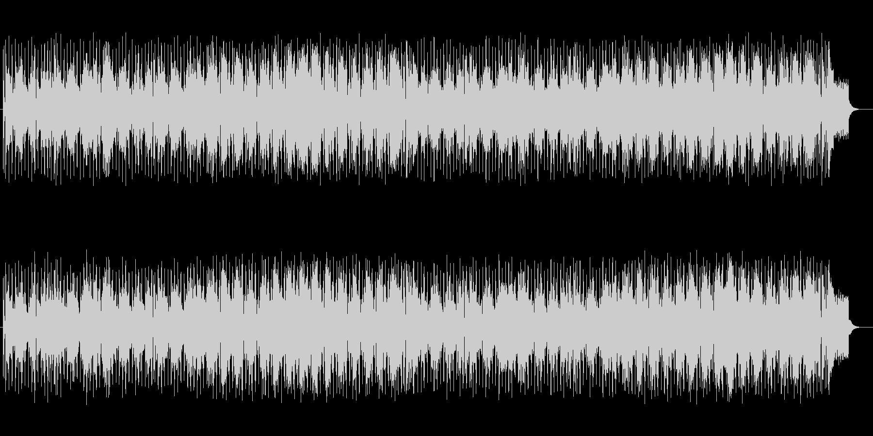明るく楽しげなシンセサイザーサウンドの未再生の波形