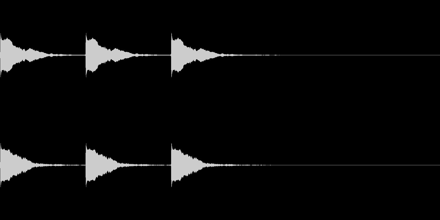 ポーン×3(ポイントを表示する時などに)の未再生の波形