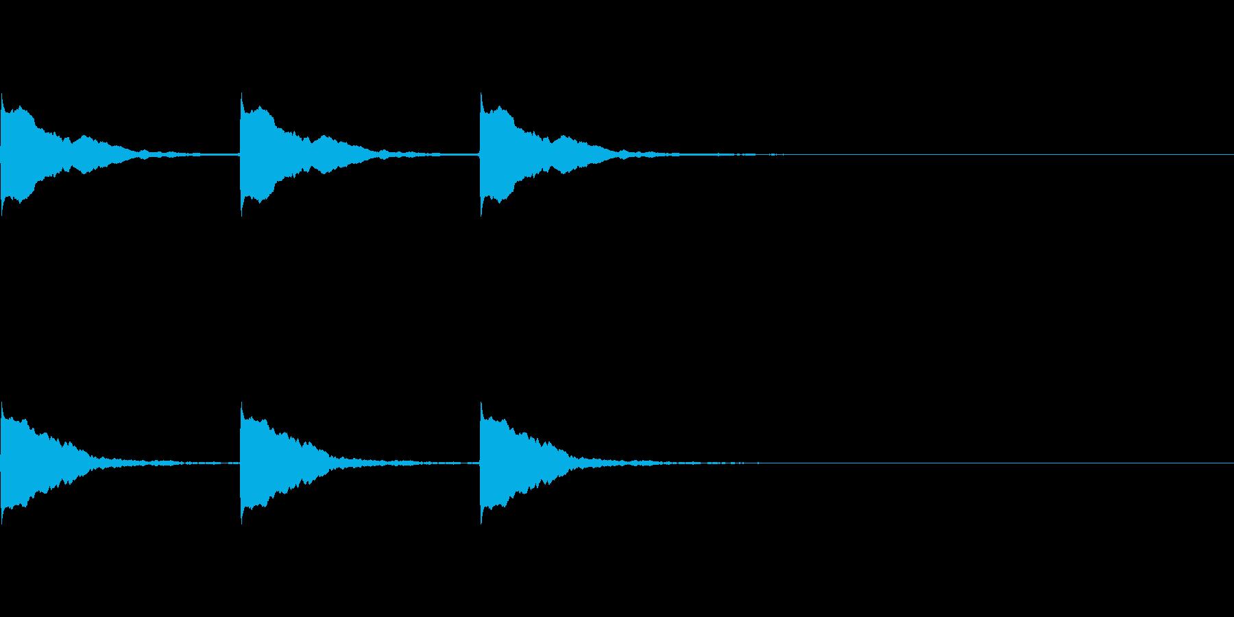 ポーン×3(ポイントを表示する時などに)の再生済みの波形