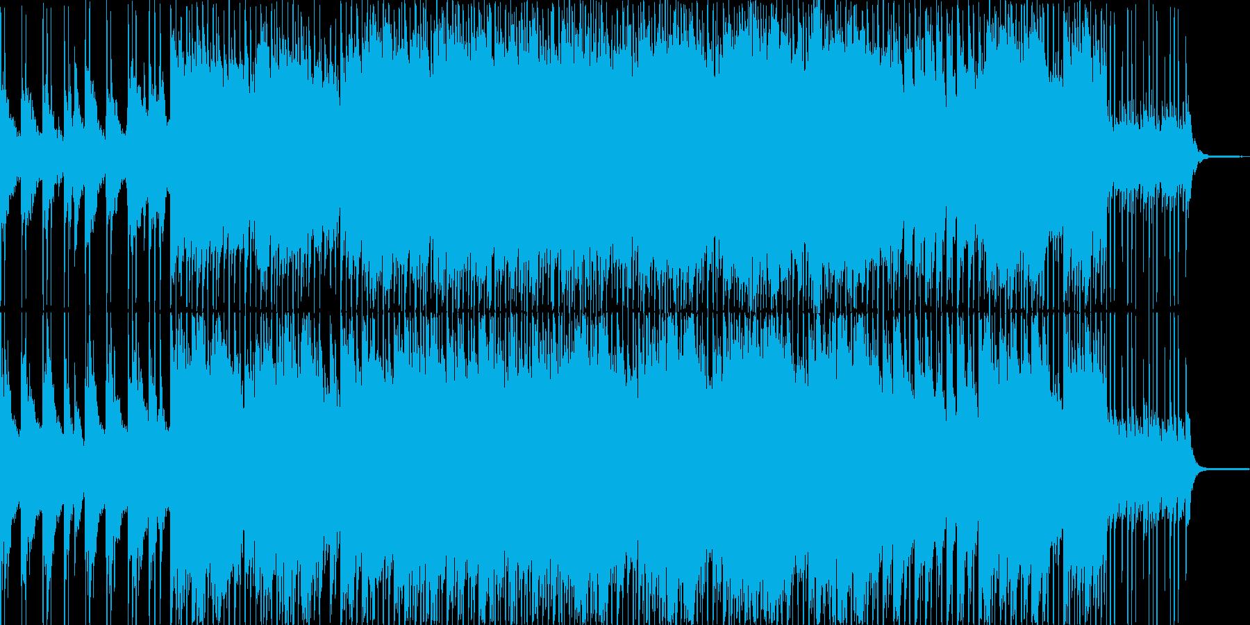ソフトピアノと綺麗なギターのポップロックの再生済みの波形