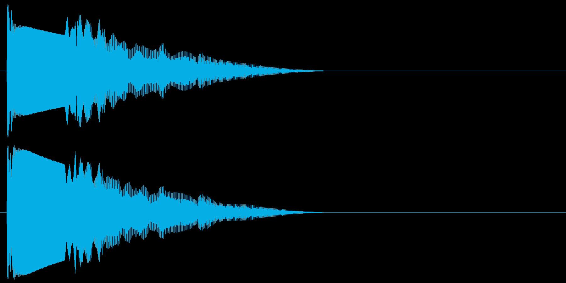 ピューン(シンセ音)落下シューティング系の再生済みの波形