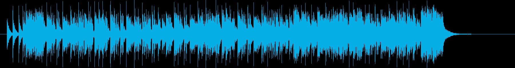 ドラムが軽快なシンセサイザーミュージックの再生済みの波形