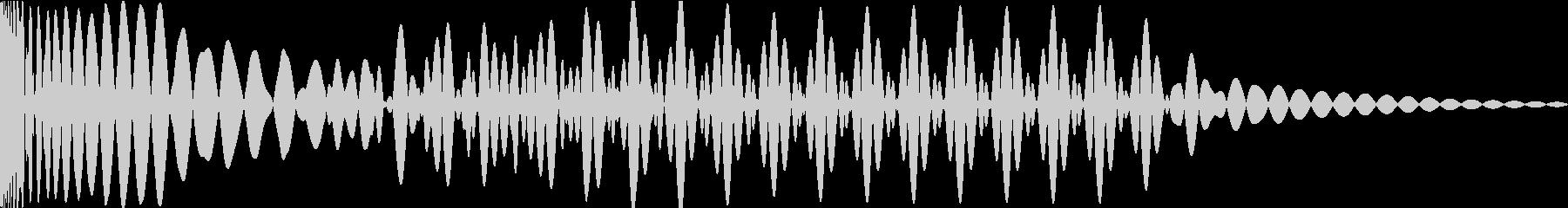 EDMキック キーG#の未再生の波形