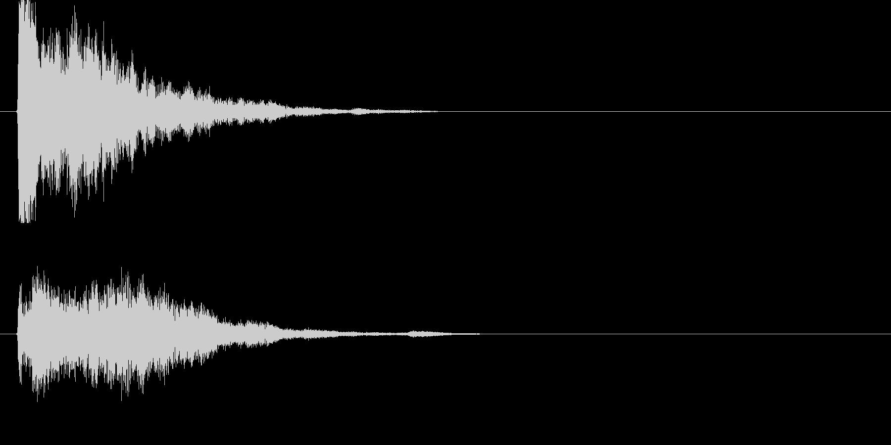 キーン!(金属音)の未再生の波形