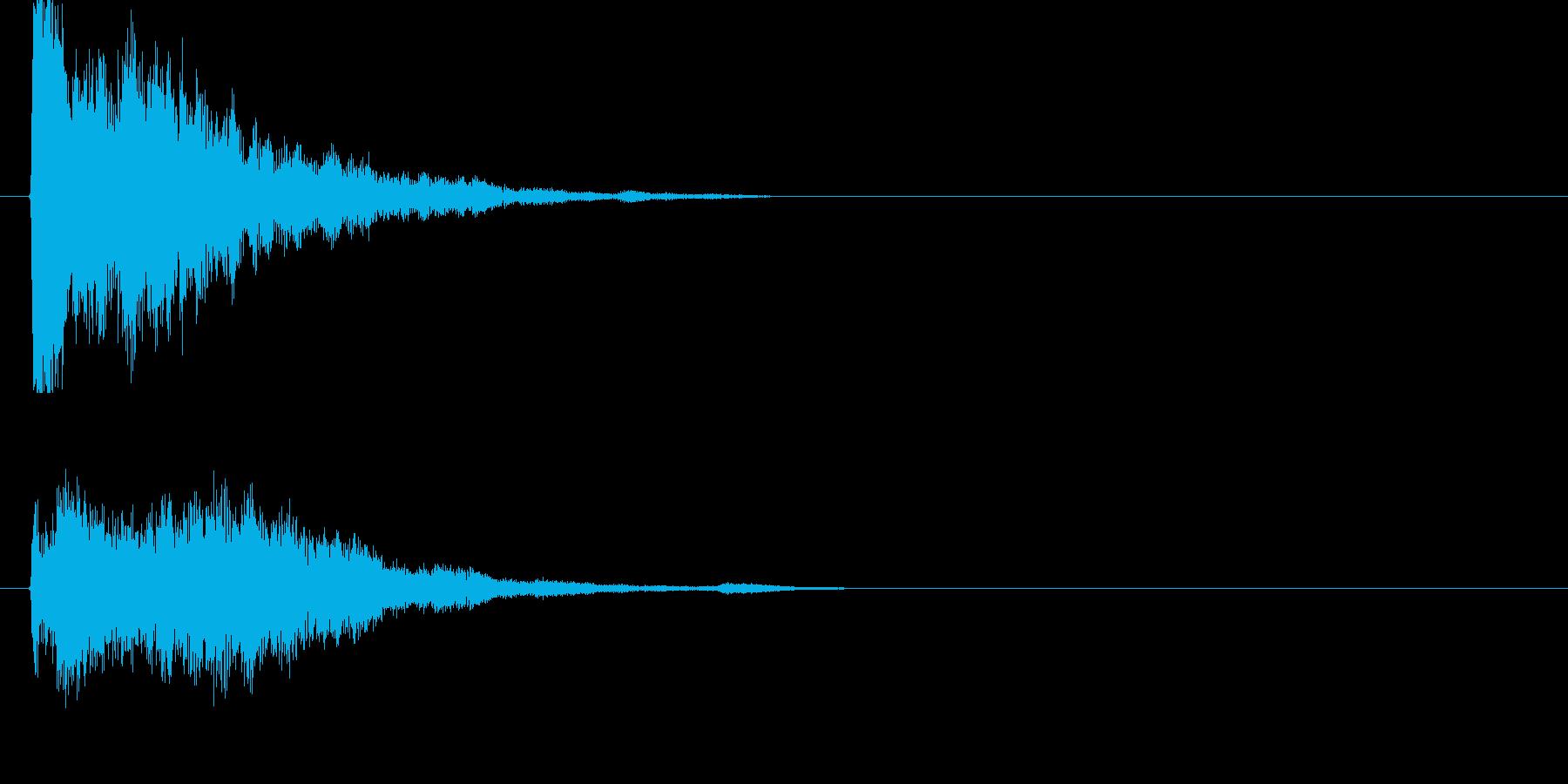 キーン!(金属音)の再生済みの波形