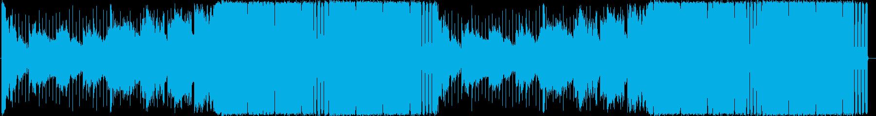 4つ打ちハウス/EDMのお洒落な曲ロングの再生済みの波形