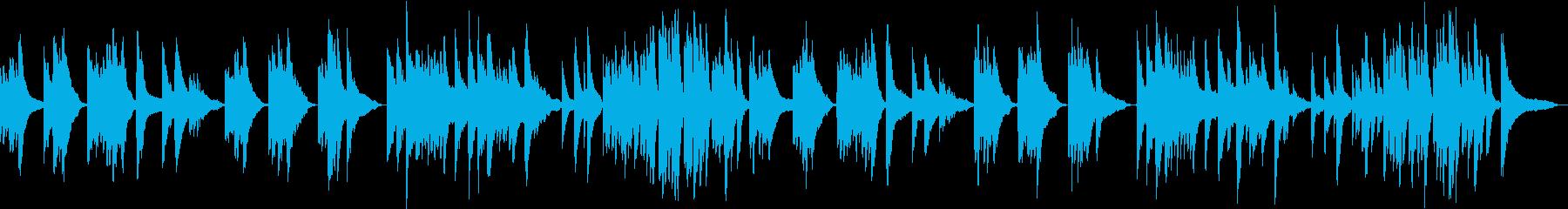 静寂を表現したピアノと弦の楽曲の再生済みの波形