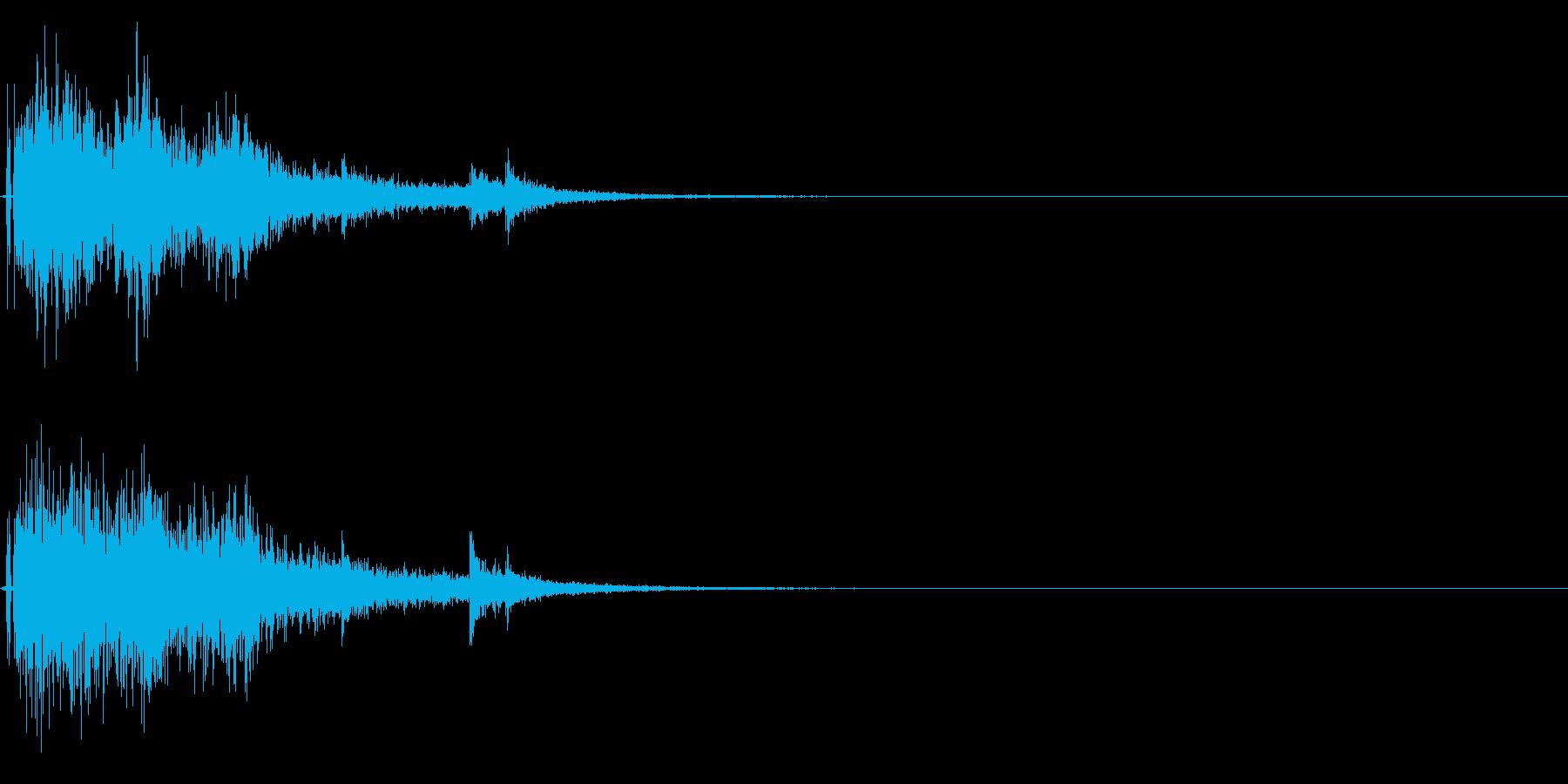 ドンパァ〜!本当にリアルな花火の効果音8の再生済みの波形