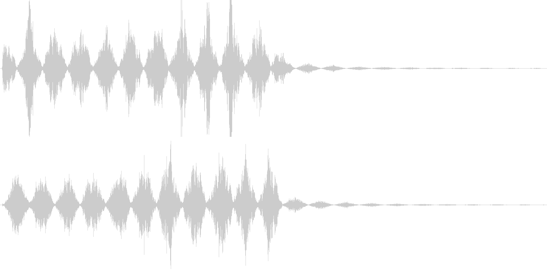 ビーム・レーザー等の発射音の未再生の波形