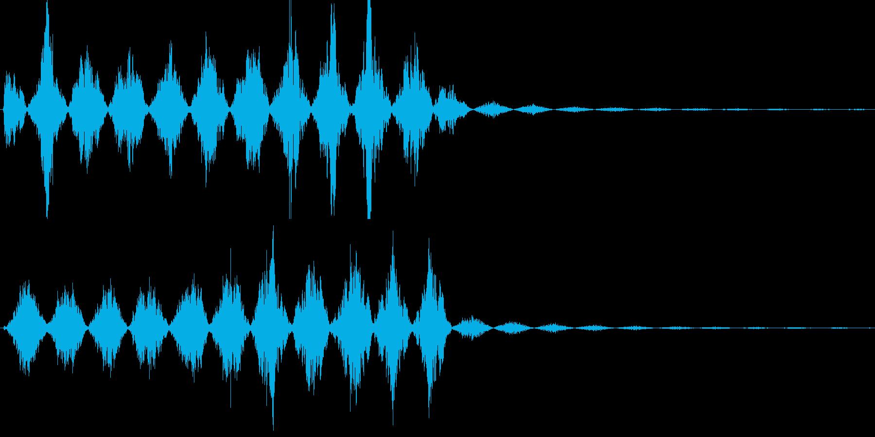 ビーム・レーザー等の発射音の再生済みの波形