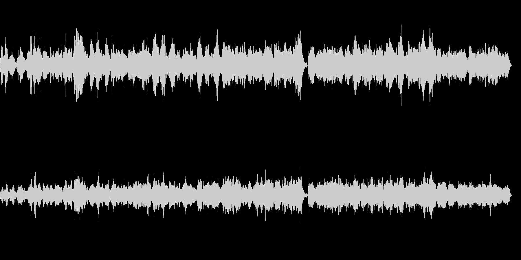 シンセとピアノのアンビエントバラードの未再生の波形