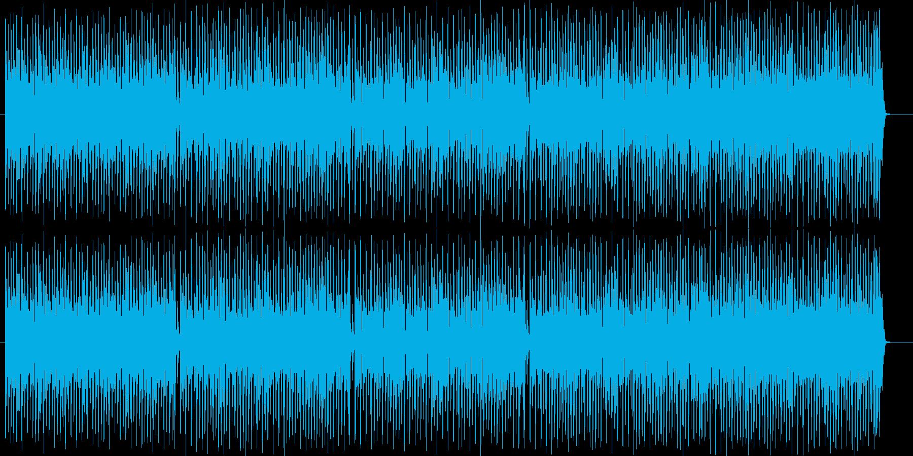 スキャット感のあるブラスが特徴的な曲の再生済みの波形