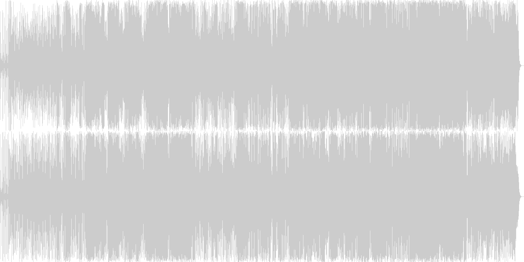 アルト&テナーサックスシンプルなメロディの未再生の波形
