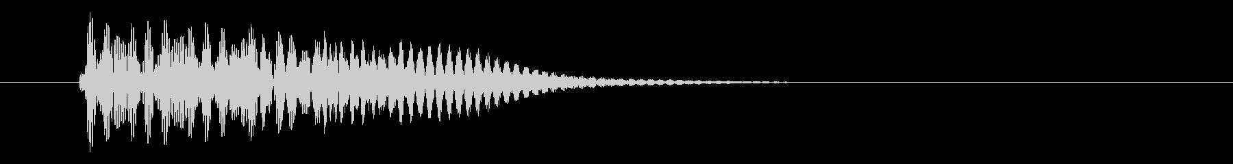 ピロン カーソル移動 決定音 01 低音の未再生の波形