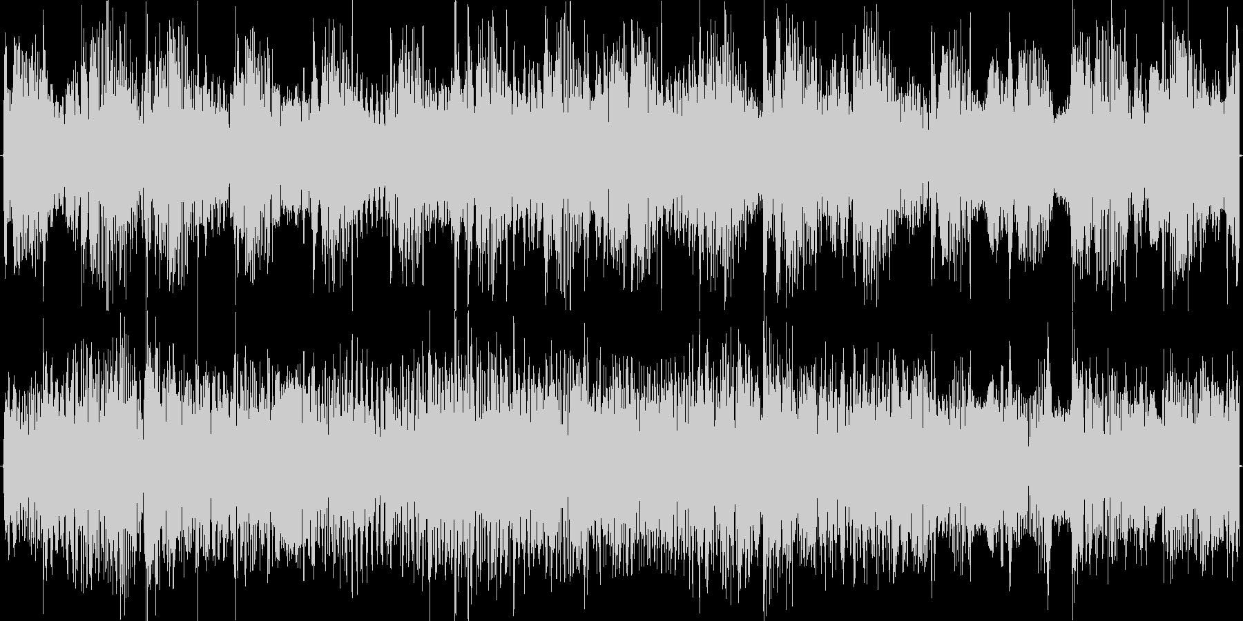 ローパスをかけた軽快浮遊エレクトロニカの未再生の波形