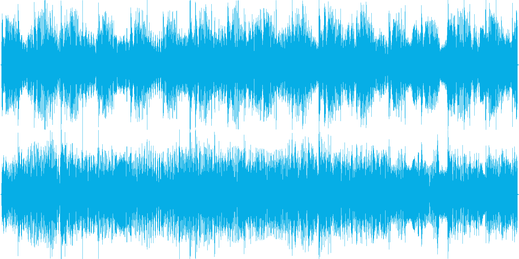 ローパスをかけた軽快浮遊エレクトロニカの再生済みの波形