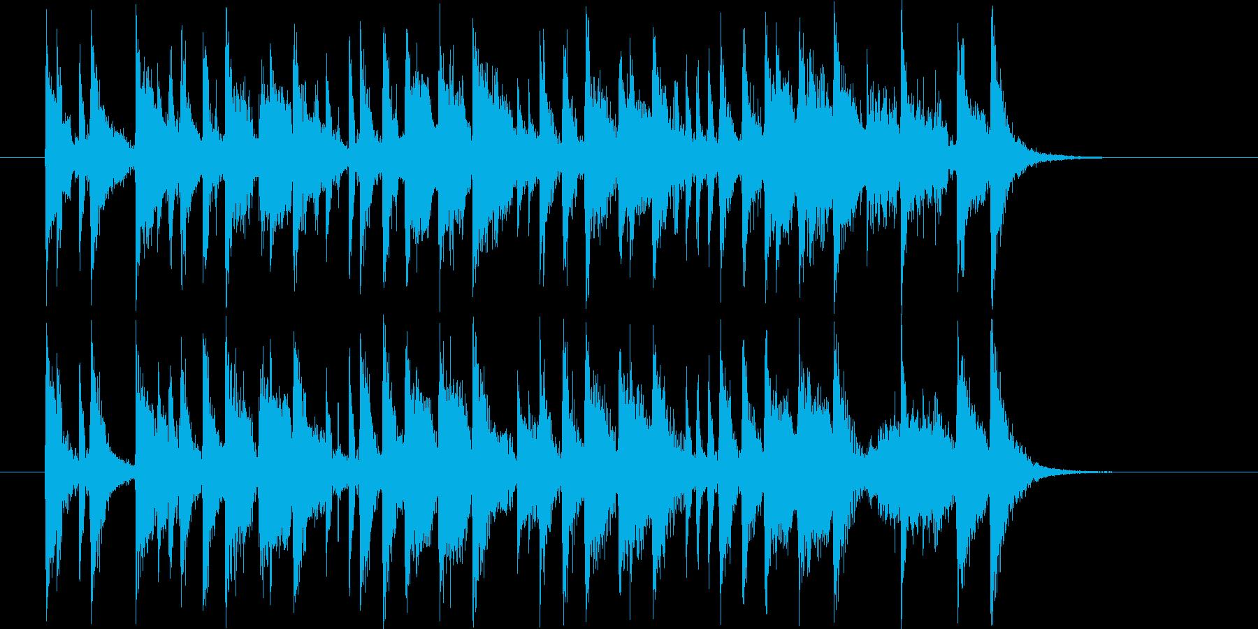 南国風味の短い打楽器中心のポップスの再生済みの波形
