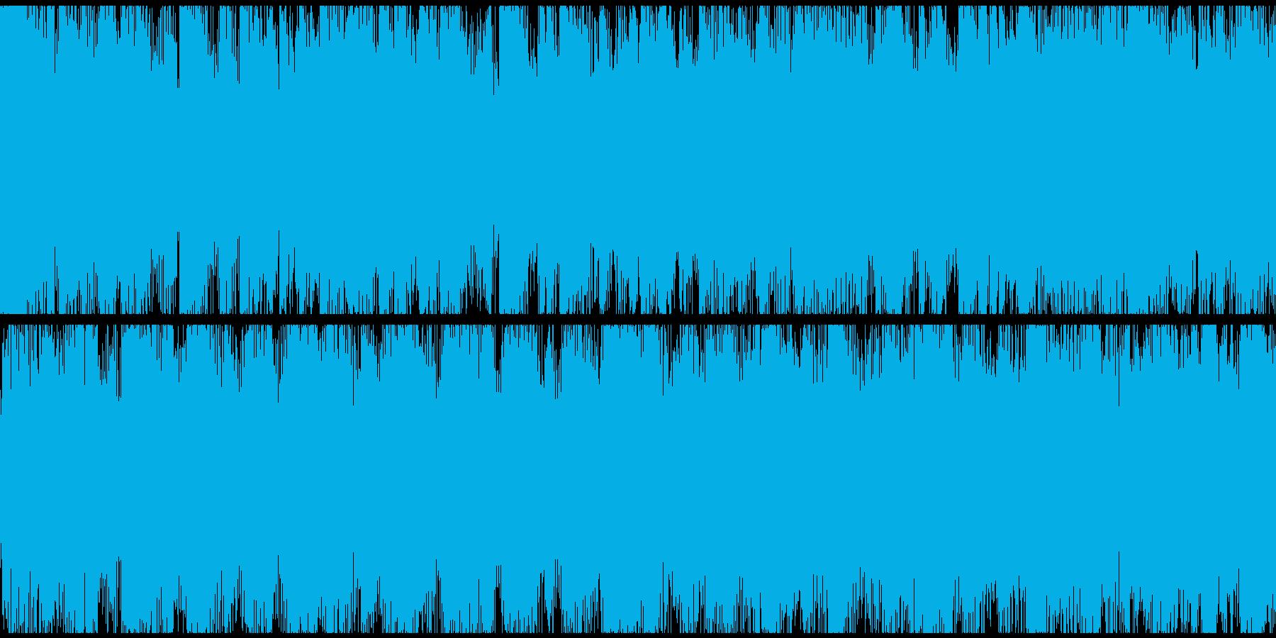 ゲーム向け勇ましい戦闘曲オーケストラ系の再生済みの波形