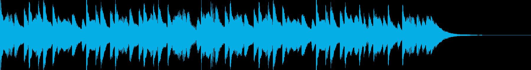 ほのぼのとしたマリンバのジングルの再生済みの波形